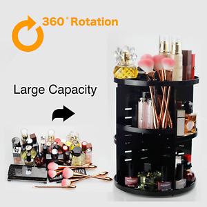 360 Degree Rotating Adjustable Acrylic Makeup Organizer,Large Capacity Make up