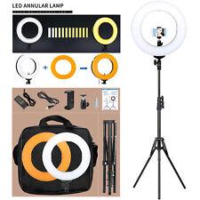 LED SMD Ring Light 5500K Camera Camcorder Lights Set Continuous Light Stand