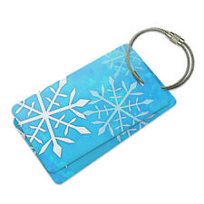 Snowflakes Suitcase Bag ID Luggage Tag Set