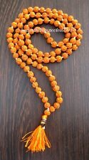 5 MUKHI LORD SHIVA HINDU -BUDHA YOGA 108+1 RUDRAKSHA BEADED 8MM PRAYER MALA