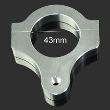 43MM cnc steering damper montage poteau support fourche tube clamp argent