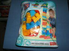 Fisher Price MEGA BLOKS Classic Blocks 80 pcs BIG BUILDING BAG TODDLER BLOCKS.