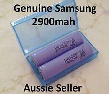 2 x Samsung INR18650-29E 3.7v2900mah Lithium Ion Li-Ion Battery Cell + case