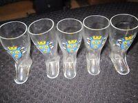 WIESBADEN BOOT SHOT GLASSES GERMANY SET OF FIVE 5