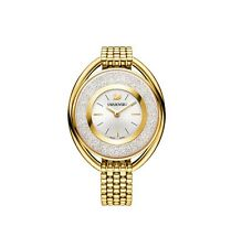 Swarovski Watch 5200339 Crystalline Oval Gold Bracelet, Swiss Made RRP $649