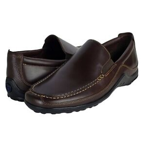 Cole haan tucker venetian french roast leather slip on loafers casual