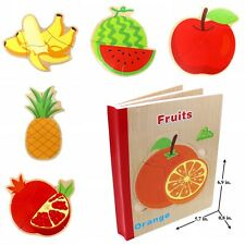 Educational Book Puzzle Toy for Toddlers Baby Kids Children - Fruits