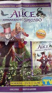 Locandina edicola-poster 80X90:DVD ALICE ATTRAVERSO LO SPECCHIO.MONDADORI