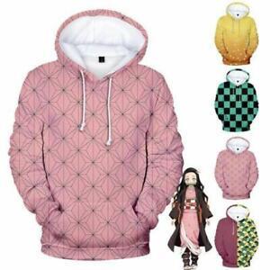 Anime Demon Slayer: Kimetsu no Yaiba 3D Hoodie Pullover Sweatshirt Coat Costume
