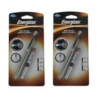2 Pack - Energizer PLED23AEH LED Pen Light 2 AAA Aluminum Case