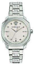 Versace Women's VQD040015 Dylos Silver Dial Stainless Steel Wristwatch