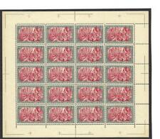 Germany 1900 Sc# 65 Michel# 66 Wilhelm 5 mark Nachdruck sheet 20 MNH old FORGERY