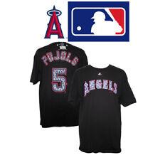Majestic LA Angels Baseball Albert Pujols 5 Black Graphic 100% Cotton T-Shirt XL