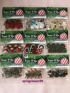 DRESS IT UP BUTTONS ~ 9 DIFFERENT CHRISTMAS THEMED PACKS ~ CRAFTS ~ JEWELLERY