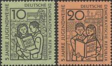 Germany 1959 Youth Consecration/Tractor/Coal Mining/Farming 2v set (n45307t)