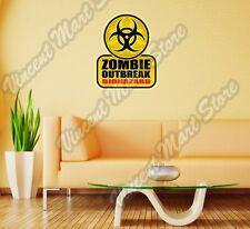 """Zombie Outbreak Biohazard Corpse Dead Wall Sticker Room Interior Decor 20""""X25"""""""