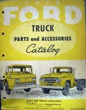 1959 Ford Truck Dealer Parts Catalog Manual F 100 250 350 Pickup HD Tilt Cab