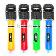 10Pcs Inflatable Blow Up Mic Microphone Kid Disco Rock Halloween Beach Party Toy