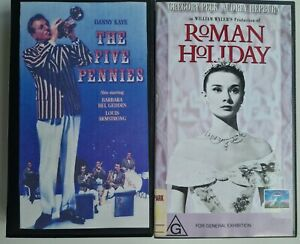 Roman Holiday & The five pennies VHS video tapes classics. ** FREE POSTAGE **