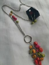 "New Paparazzi 30"" Necklace & Pierced Earring Set, Neon Color Stone Pendant"