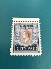 Discworld stamps Ankh-Morpork Sixpence Duty Paid Blue  2015