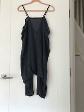 Free People Baggy Drop Crotch Crop Jumpsuit Size Xs 8/10/12