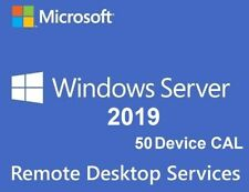 Server 2019 RDS 50 device Cal Remote Desktop Service