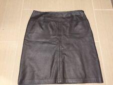 NINE WEST 100% Leather Brown Pencil Skirt  Sz 10 Mint!