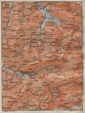 Muotathal pragel & Sihltal. Silbern liedernen (kaiserstock) IBERG 1922 Old Map