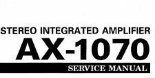 YAMAHA AX-1070 STEREO INTEGRATED AMPLIFIER SERVICE MANUAL INC SCHEMS IN ENGLISH