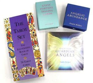 TAROT SET + FORTUNE TELLING CARDS + GUARDIAN ANGELS ANGELA MCGERR Sets - H40