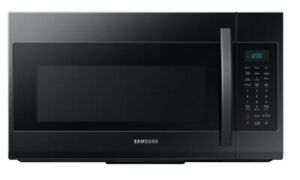 Samsung 30 Inch 1.9 Cu. Ft Black Stainless Over-The-Range Microwave ME19R7041FG