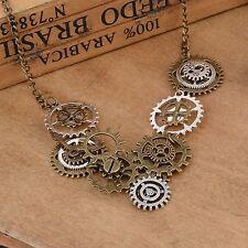 Vintage Victorian Steampunk Watch Movements Gear Necklace Pendant Retro Necklace