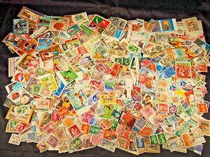 Vintage cancelled International stamps 3 oz bag loose color assorted 20th Centur