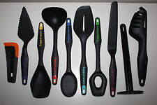 Tupperware Griffbereit Set 10 tlg. Schaum-Schöp-Rührlöffel Schaber Pfannenwender