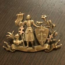 Ancienne Broche Insigne - Jeanne d'Arc avec Croix de Lorraine - Doré