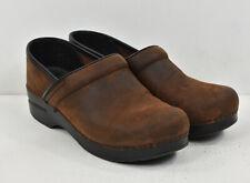 DANSKO Dark Antique Brown Oiled Leather 206 Professional Clogs 39 8.5 9
