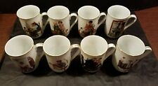 Vintage Norman Rockwell Mugs Set Of 8 Museum Collection 1982/1985