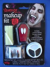 NEW Vampire Dracula Theatrical Makeup Kit Fangs Set Costume Make Up Accessory