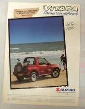 SUZUKI VITARA SOFT TOP A4 ADVERT POSTER READY TO FRAME B