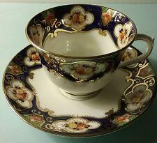 Beautiful Antique Royal Albert Crown China Imari Cameo Patterned Teacup & Saucer