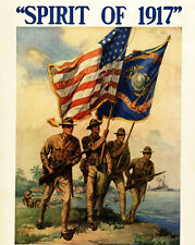 WW2 United States Marine Corps  Painting Poster Real Canvas Giclee Art Print
