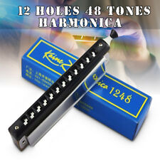 Kaine.Z 12 Holes 48 Tones C Key Chromatic Harmonica Mouth For Beginners KZ1248 !