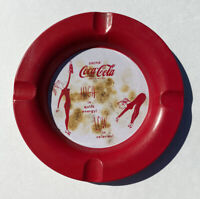 Vintage Coca Cola Ashtray Metal 1950s Used Burns Noted