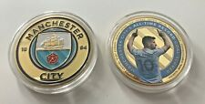 More details for manchester city fc football coins 24ct gold plated commemorative coins new