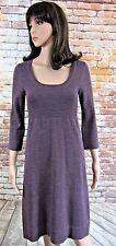 Ladies Boden 100% Wool Jumper Dress Size 8 Calf Length Mauve New
