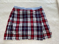 Tommy Hilfiger Women's size 6 plaid skort mini short skirt black, red, white