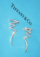 Tiffany & Co Paloma Picasso Graffiti Scribble Zig Zag Sterling Silver Earrings