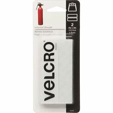 """VELCRO Brand Industrial Strength Tape 4""""X2"""" 2/Pkg-White -90200"""