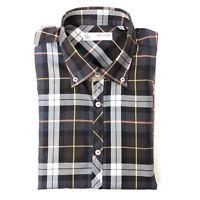 Poggianti 1958 Mens Shirt Long Sleeve Button Down Multi Check Cotton Size 41/16